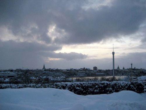 Snöigt Stockholm